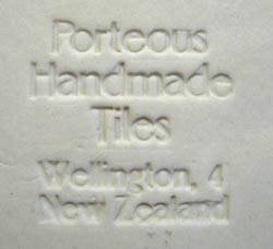 Hand Made arts and Crafts Tile by Porteous
